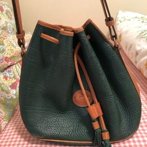 Vintage Dooney & Bourke Leather Bucket Bag